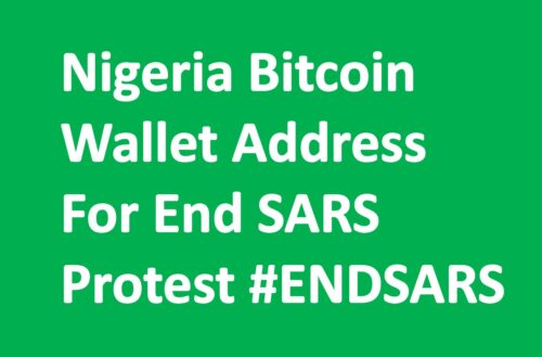 Nigeria Bitcoin Wallet Address For End SARS Protest #ENDSARS