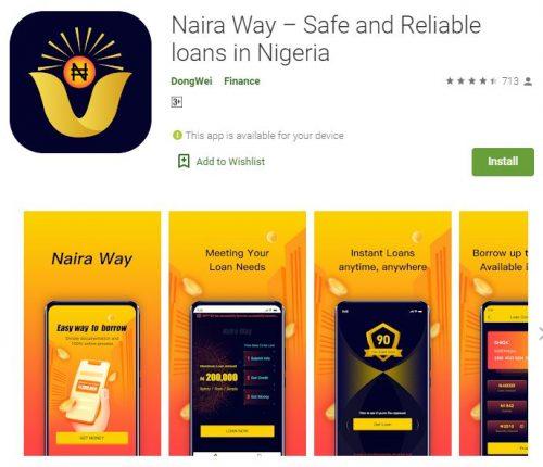 Customer Care: Naira Way Loan App - Login and Register (Apk Download)