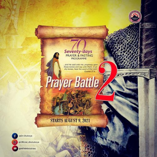 MFM 70 days fasting and prayer programme - Day 16 (August 24 2021) - Prayer Points