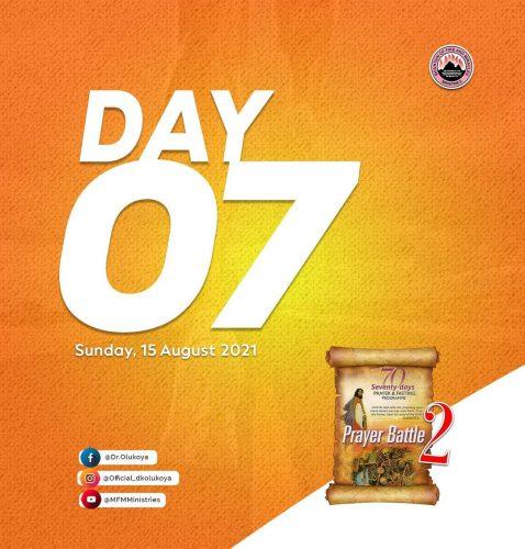 Prayer Points: MFM - 2021 70 Days Fasting - Day 7 (August 15)