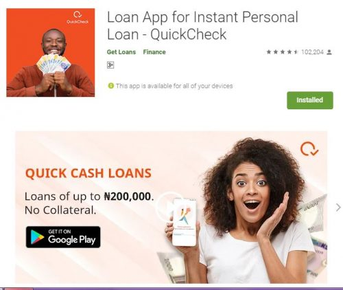 Customer Care: QuickCheck Loan App (APK) - WhatsApp Number - Email Contact