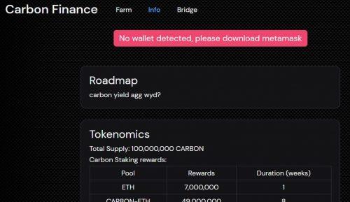 Reviews: Carbon Finance - #CRYPTO COIN - https://carbonfi.io/ (Scam Or Legit)