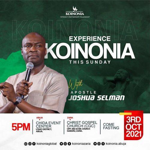 Where Is Apostle Joshua Selman Church Located